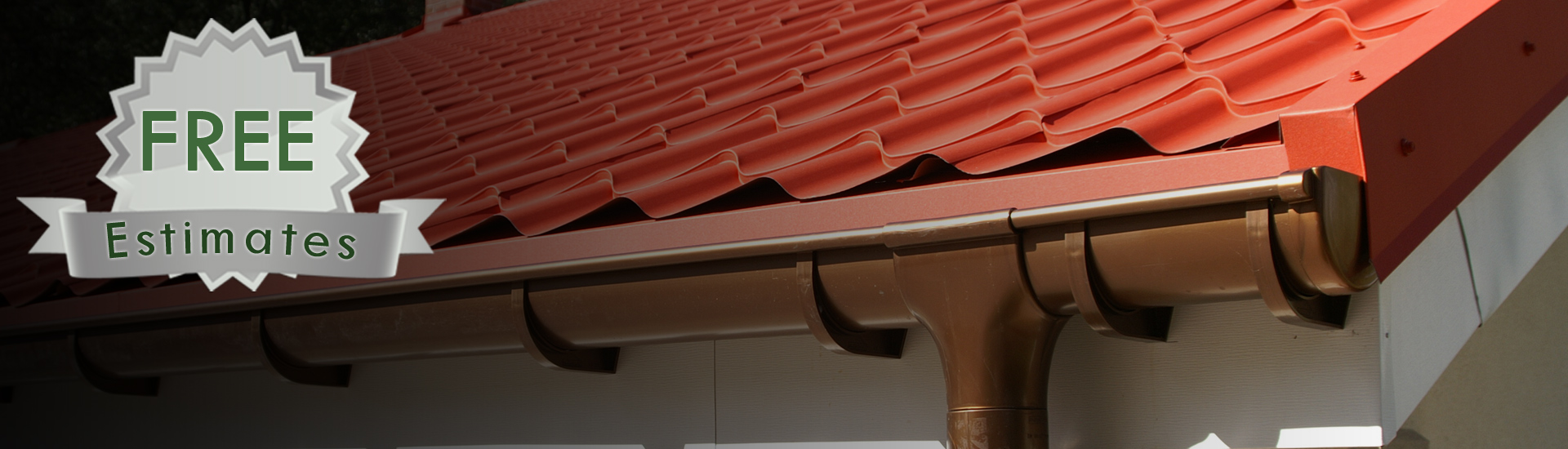 Gutter System on Roof